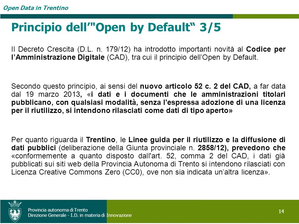 Principio dell' Open by Default 3/5