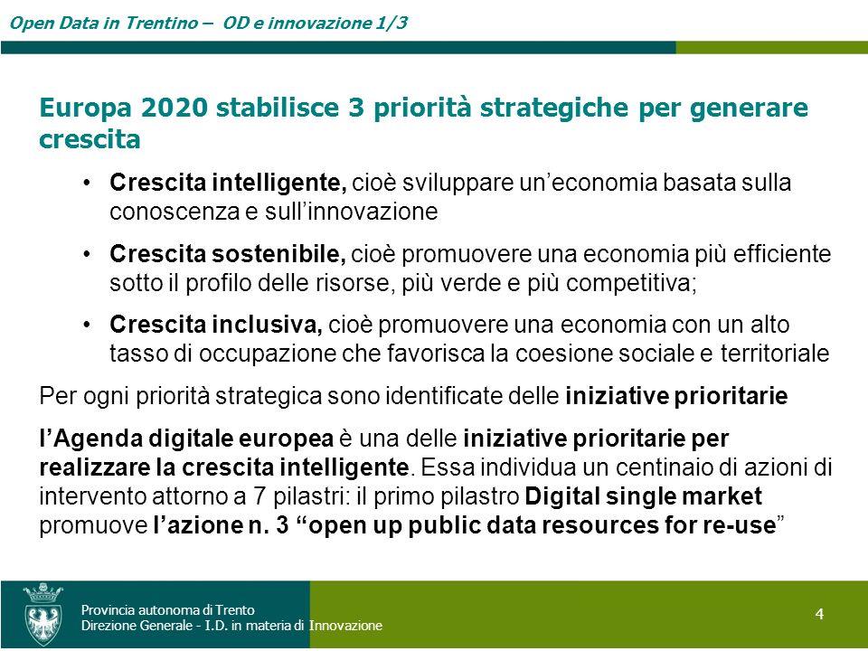Europa 2020 stabilisce 3 priorità strategiche per generare crescita