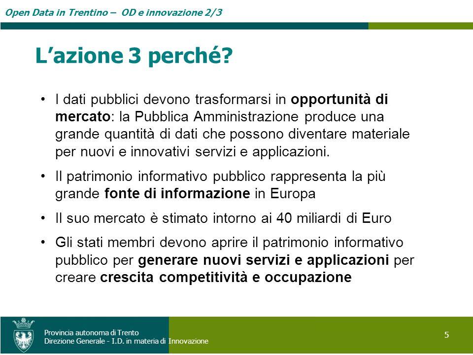 Open Data in Trentino – OD e innovazione 2/3