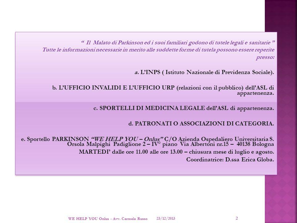 a. L'INPS ( Istituto Nazionale di Previdenza Sociale).
