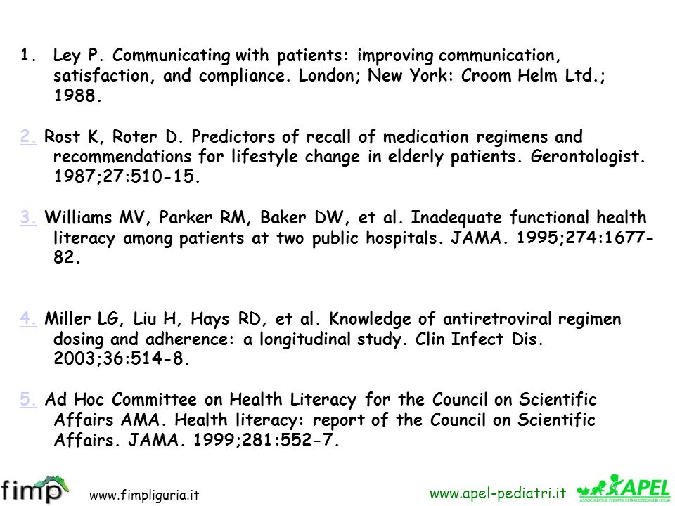 Ley P. Communicating with patients: improving communication, satisfaction, and compliance. London; New York: Croom Helm Ltd.; 1988.
