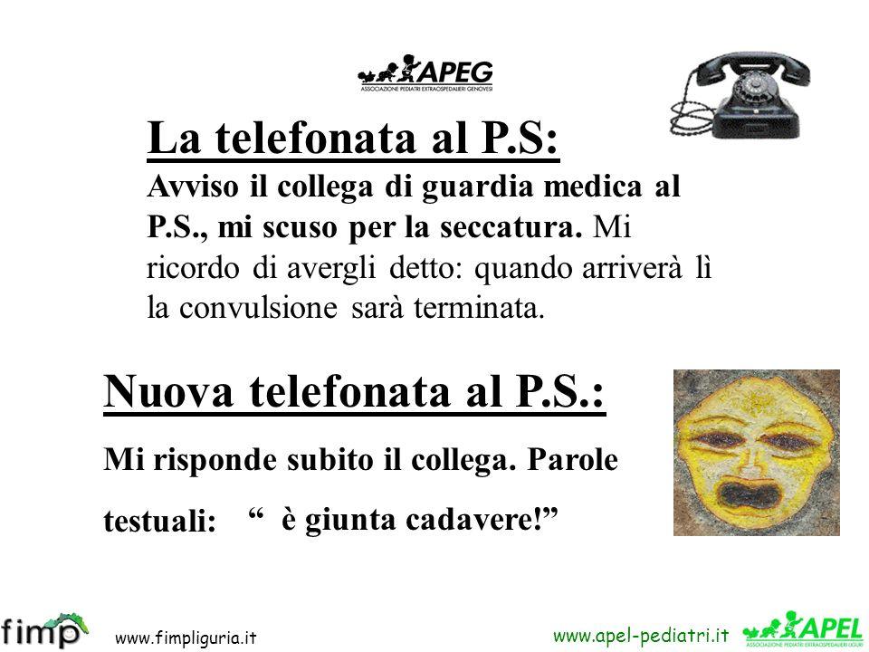 Nuova telefonata al P.S.: