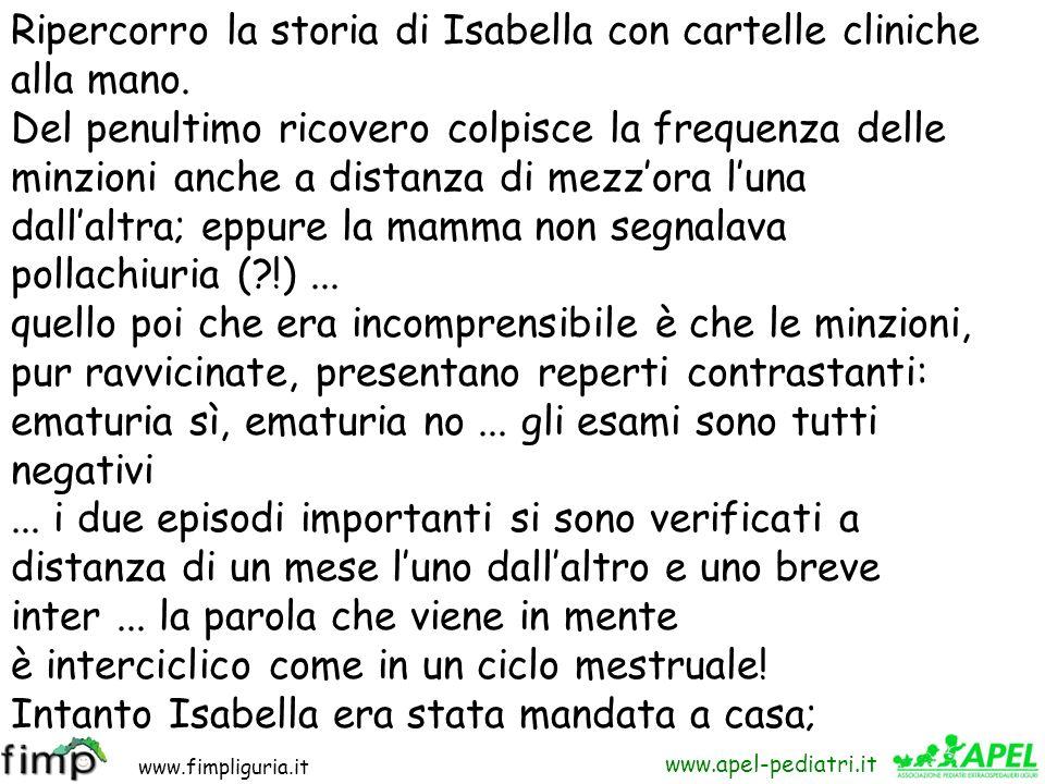 Ripercorro la storia di Isabella con cartelle cliniche alla mano.
