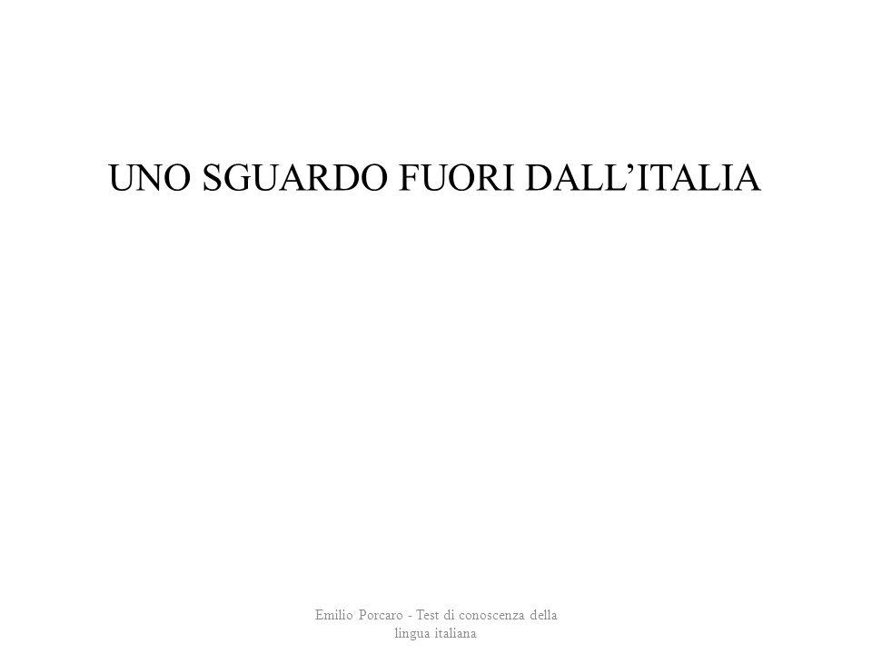 UNO SGUARDO FUORI DALL'ITALIA