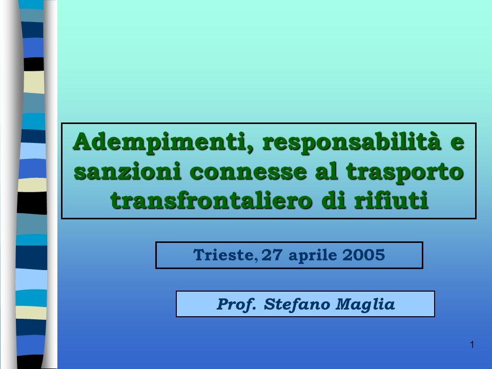 Adempimenti, responsabilità e sanzioni connesse al trasporto transfrontaliero di rifiuti