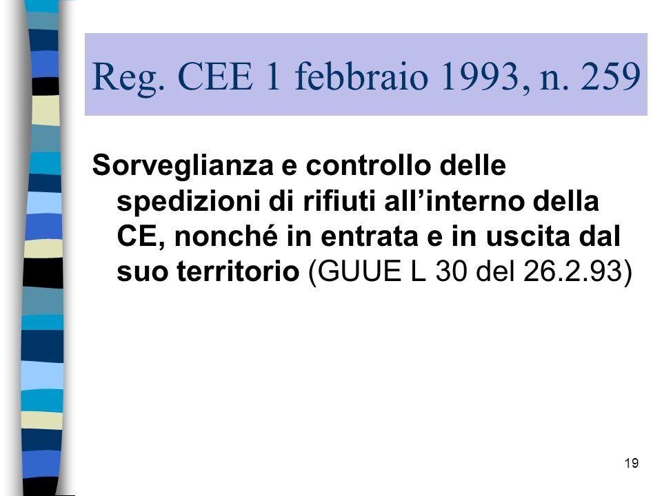 Reg. CEE 1 febbraio 1993, n. 259