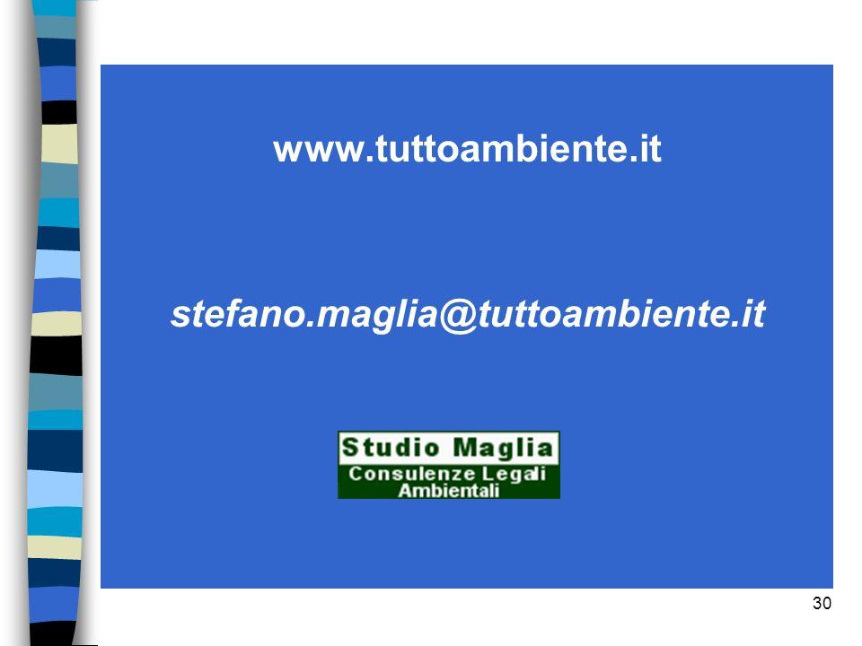 www.tuttoambiente.it stefano.maglia@tuttoambiente.it