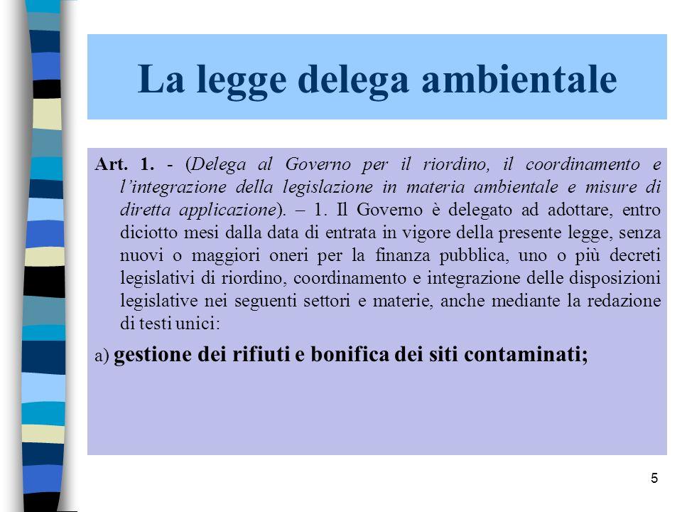 La legge delega ambientale