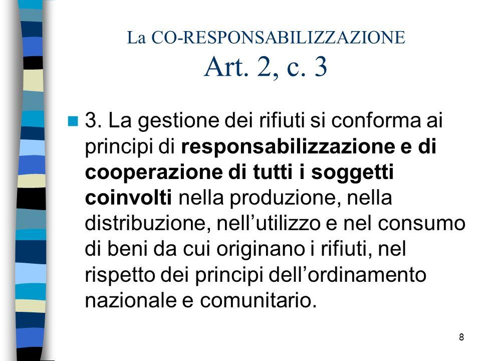 La CO-RESPONSABILIZZAZIONE Art. 2, c. 3