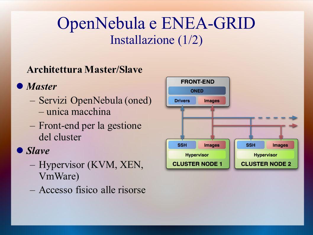 OpenNebula e ENEA-GRID Installazione (1/2)