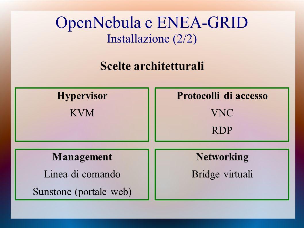 OpenNebula e ENEA-GRID Installazione (2/2)