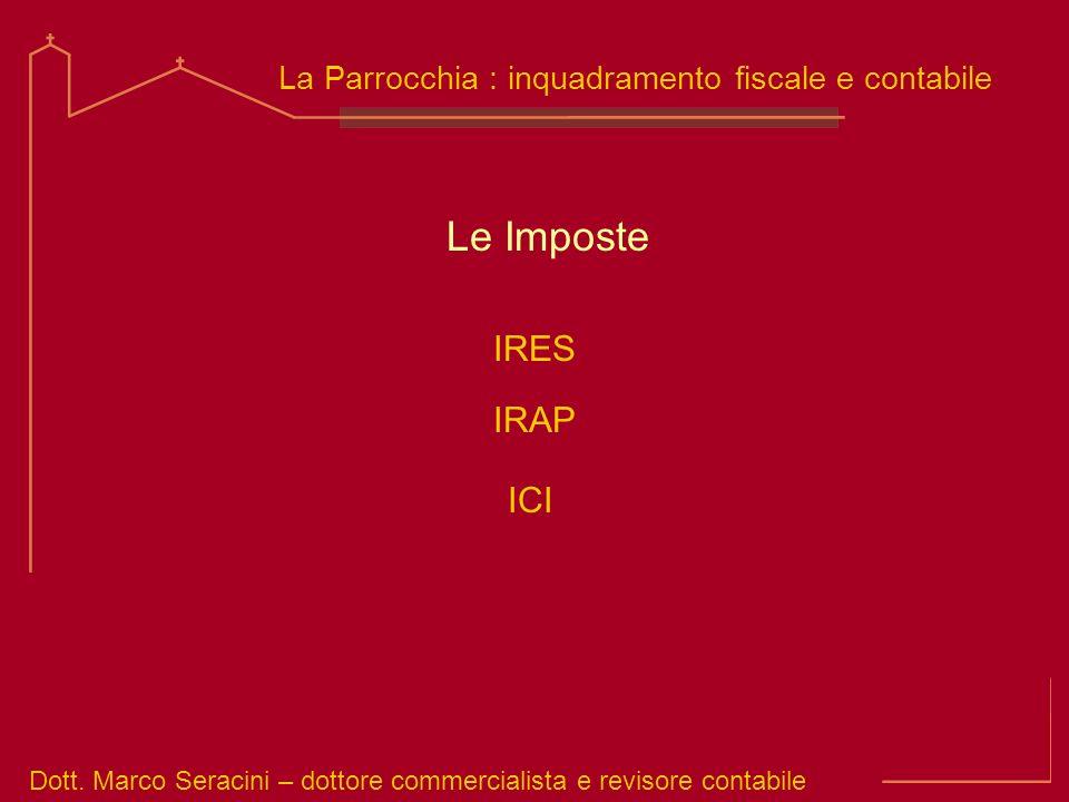 Le Imposte IRES IRAP ICI