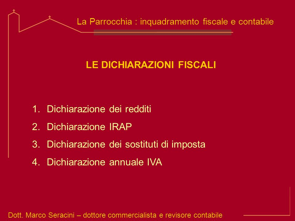 LE DICHIARAZIONI FISCALI