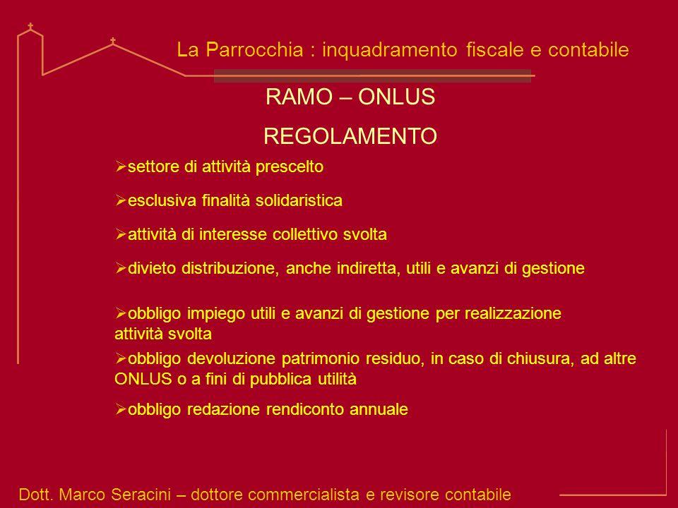 RAMO – ONLUS REGOLAMENTO