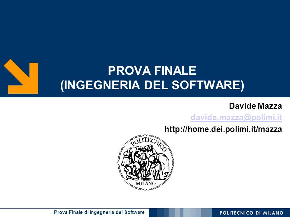 PROVA FINALE (INGEGNERIA DEL SOFTWARE)