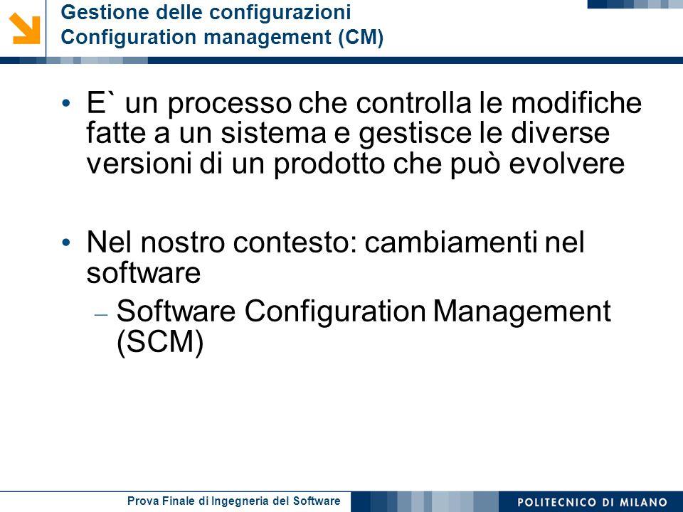 Gestione delle configurazioni Configuration management (CM)