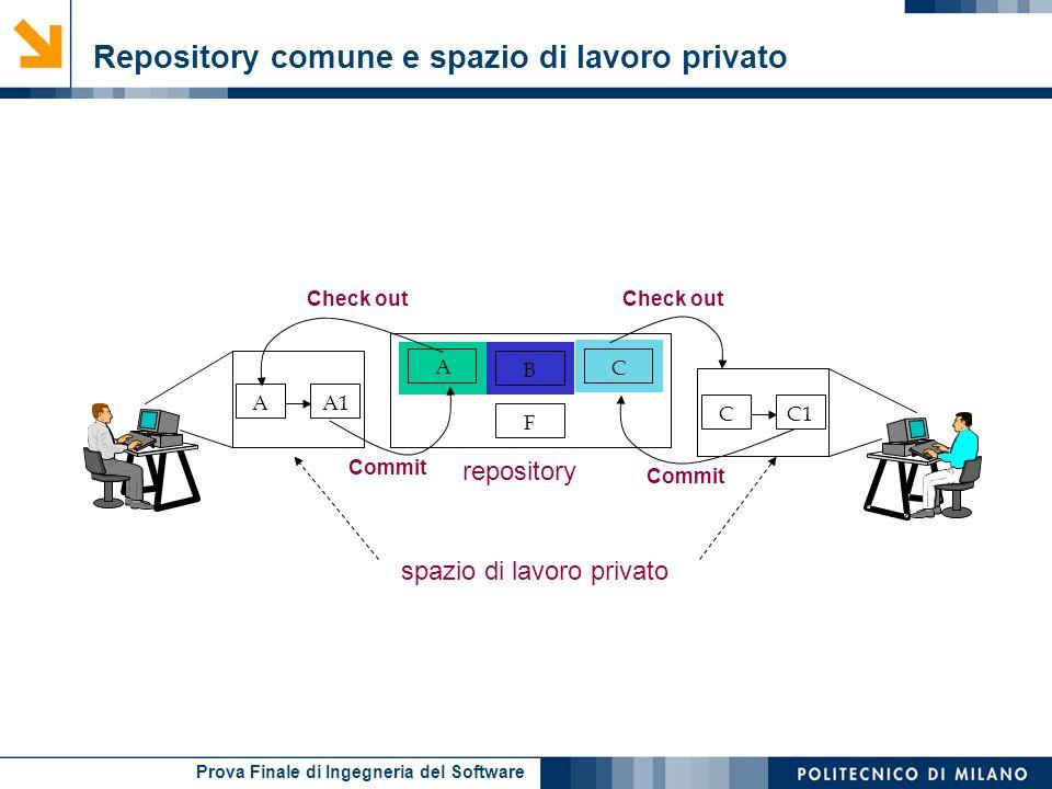 Repository comune e spazio di lavoro privato