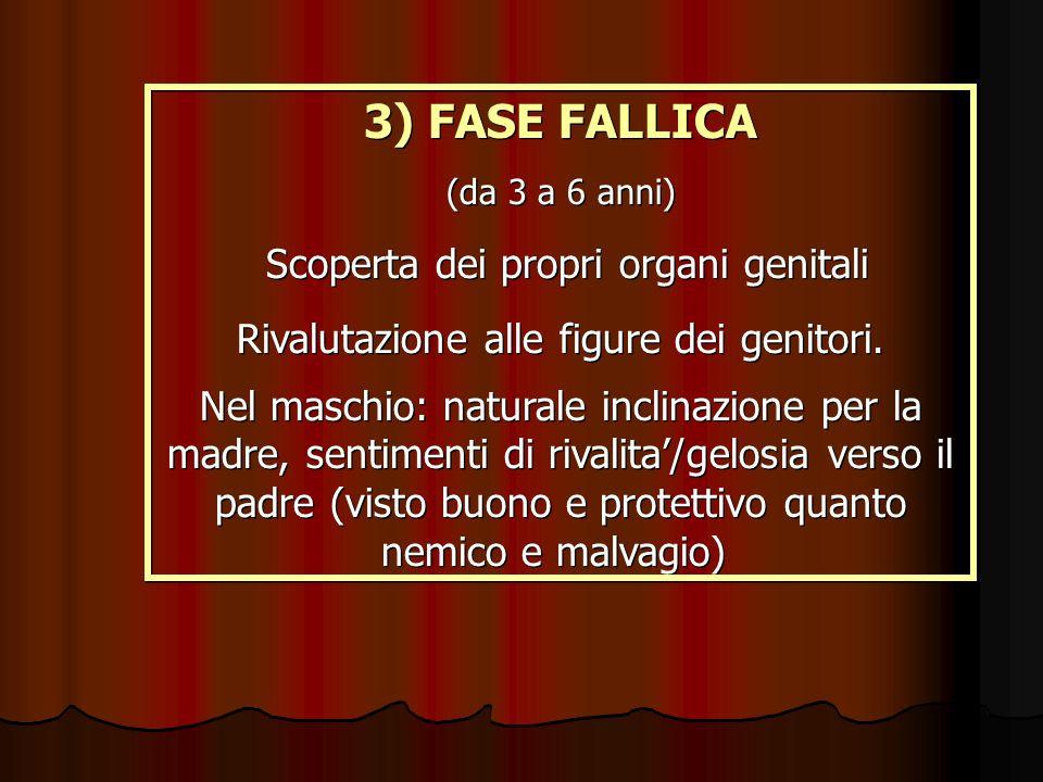 3) FASE FALLICA Scoperta dei propri organi genitali