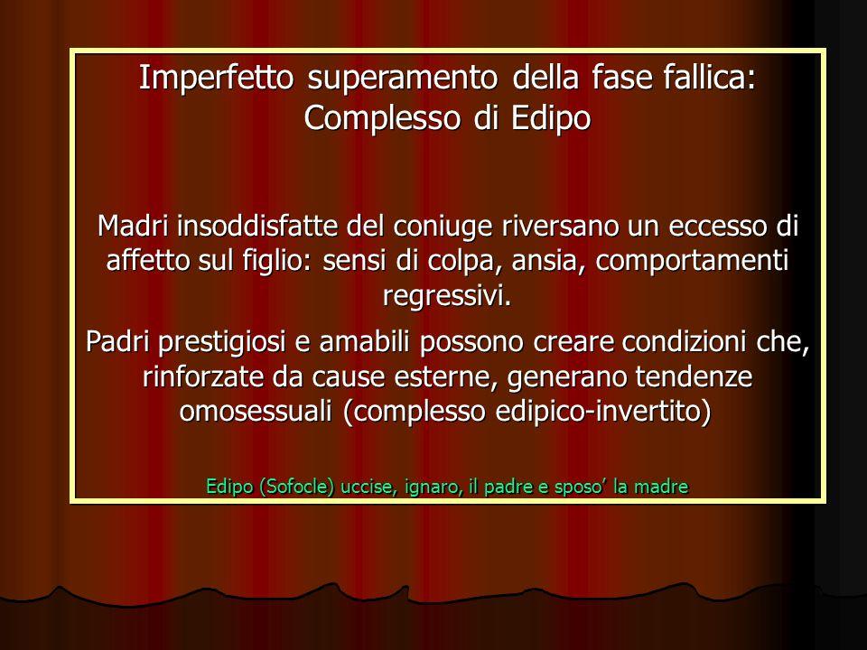 Imperfetto superamento della fase fallica: Complesso di Edipo