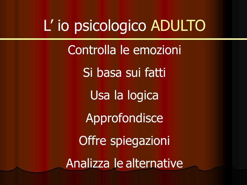 L' io psicologico ADULTO