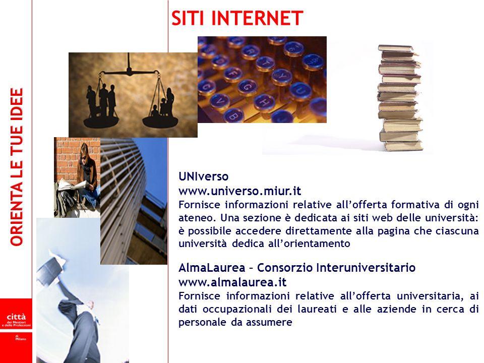 SITI INTERNET UNIverso www.universo.miur.it