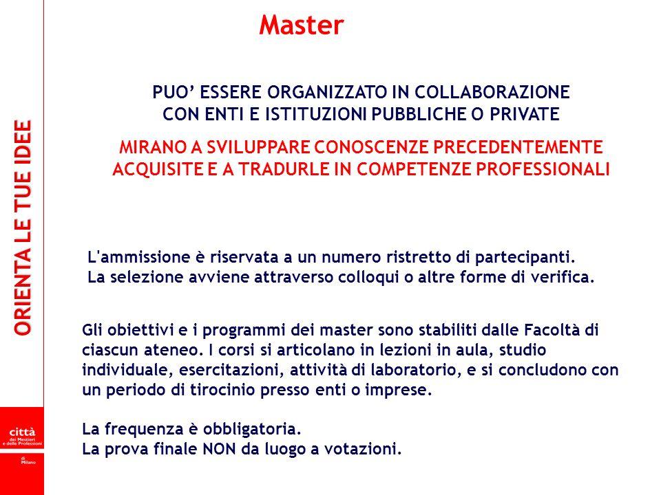 Master PUO' ESSERE ORGANIZZATO IN COLLABORAZIONE