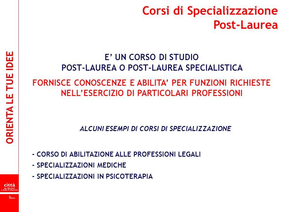 Corsi di Specializzazione Post-Laurea