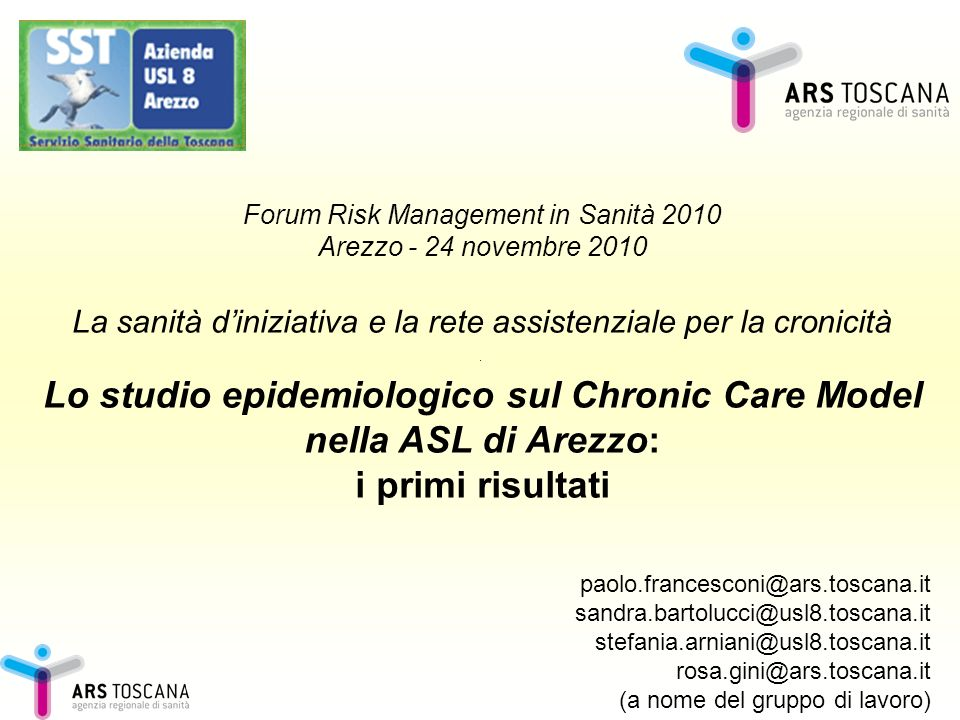 Lo studio epidemiologico sul Chronic Care Model nella ASL di Arezzo: