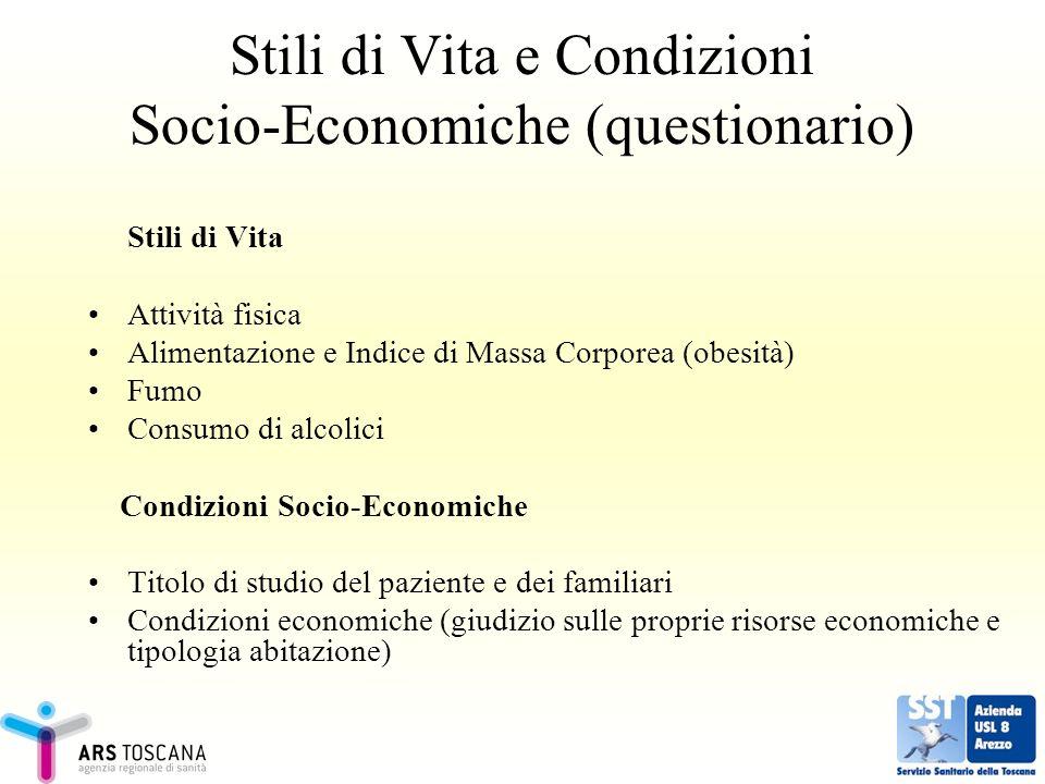 Stili di Vita e Condizioni Socio-Economiche (questionario)