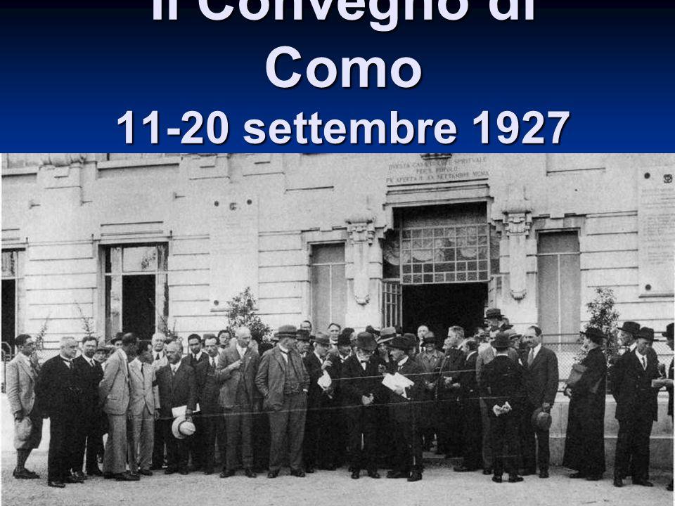 Il Convegno di Como 11-20 settembre 1927