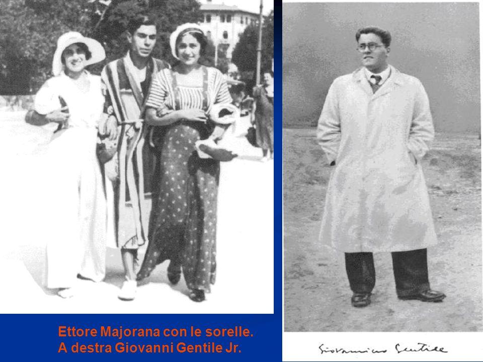 Ettore Majorana con le sorelle.
