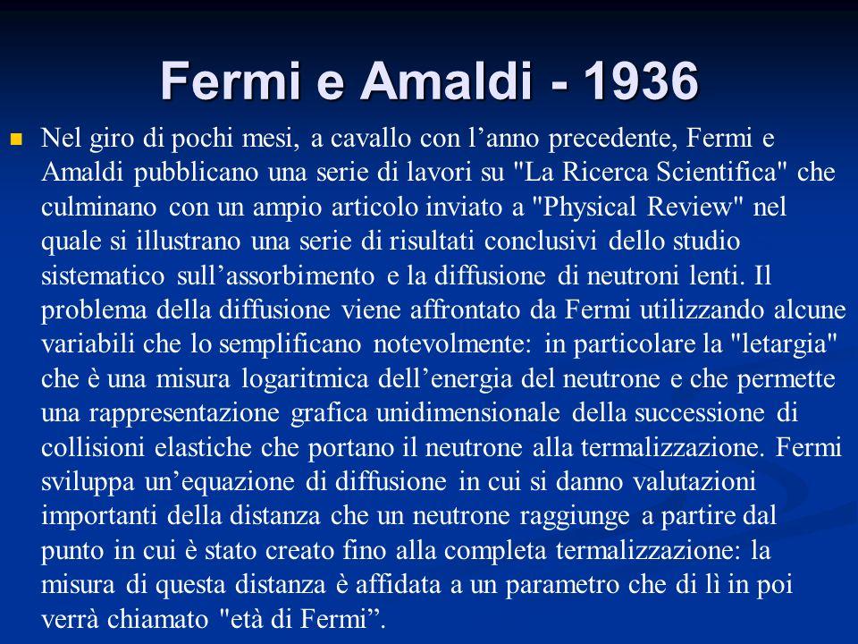 Fermi e Amaldi - 1936