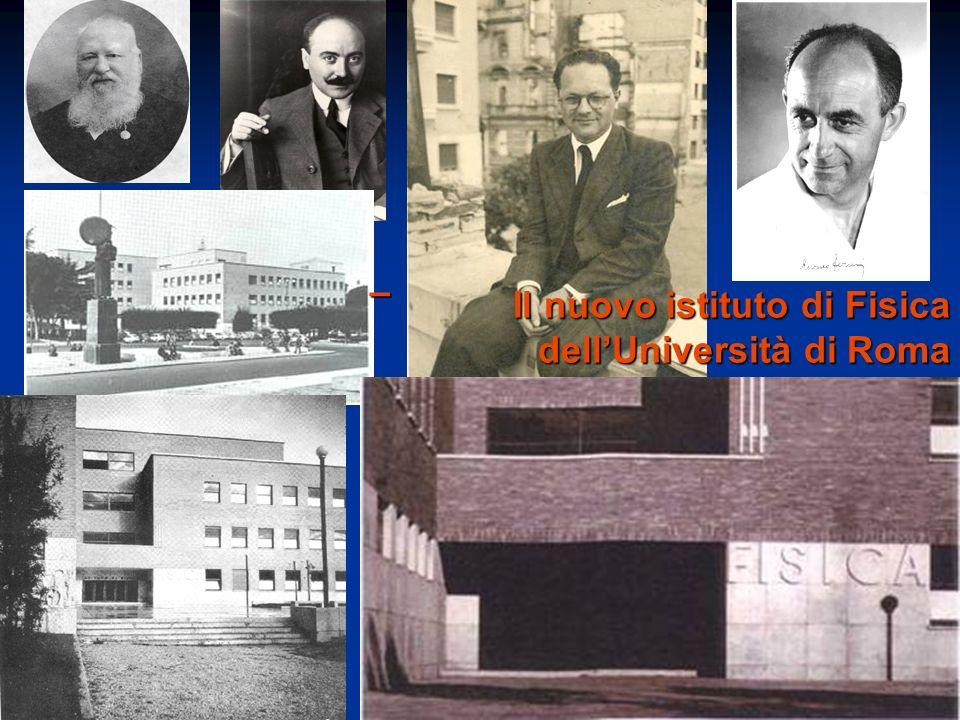 – Il nuovo istituto di Fisica dell'Università di Roma