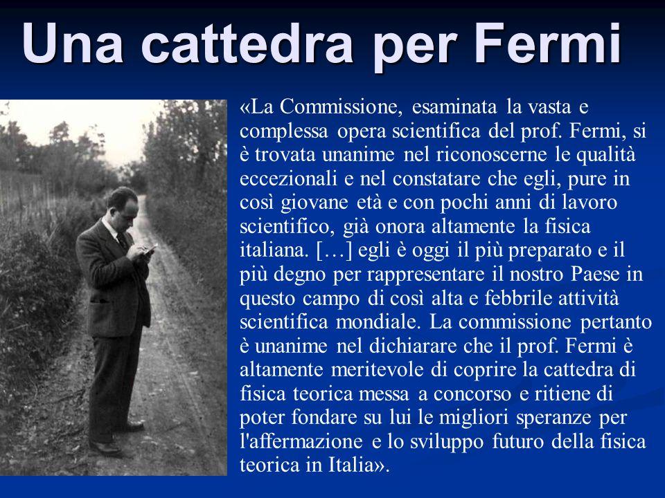 Una cattedra per Fermi