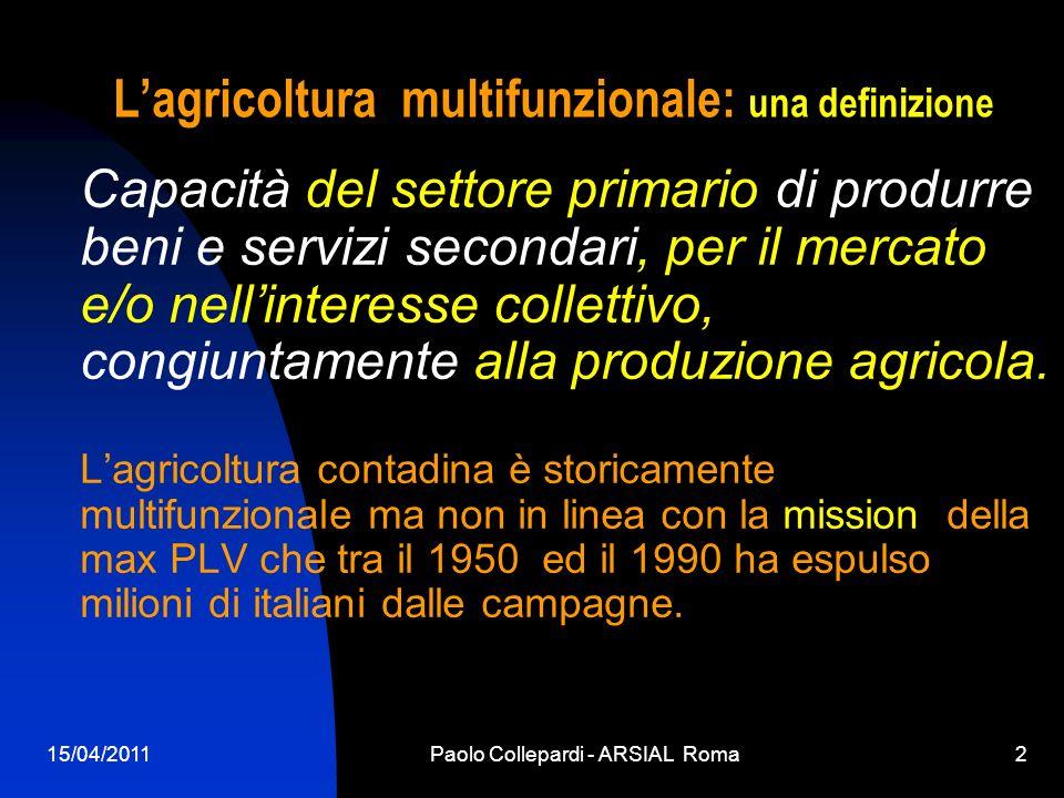 L'agricoltura multifunzionale: una definizione
