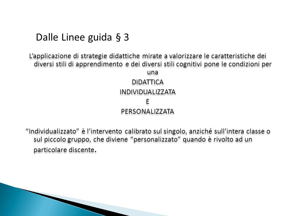 Dalle Linee guida § 3
