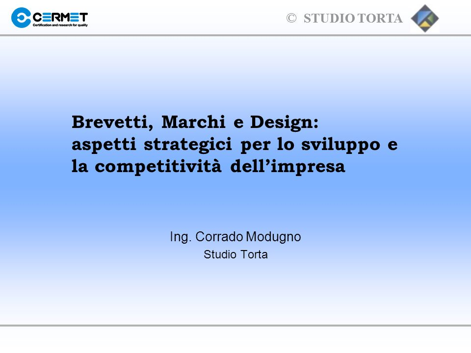 Ing. Corrado Modugno Studio Torta