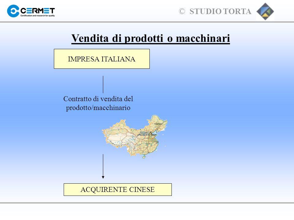 Vendita di prodotti o macchinari
