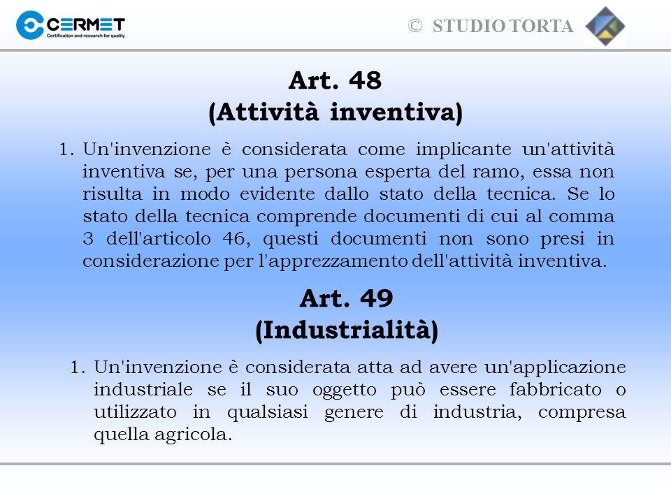 Art. 48 (Attività inventiva)