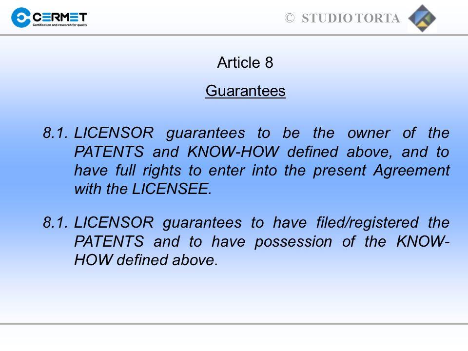Article 8Guarantees.
