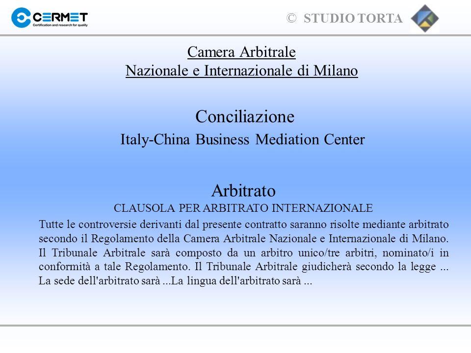 Conciliazione Arbitrato