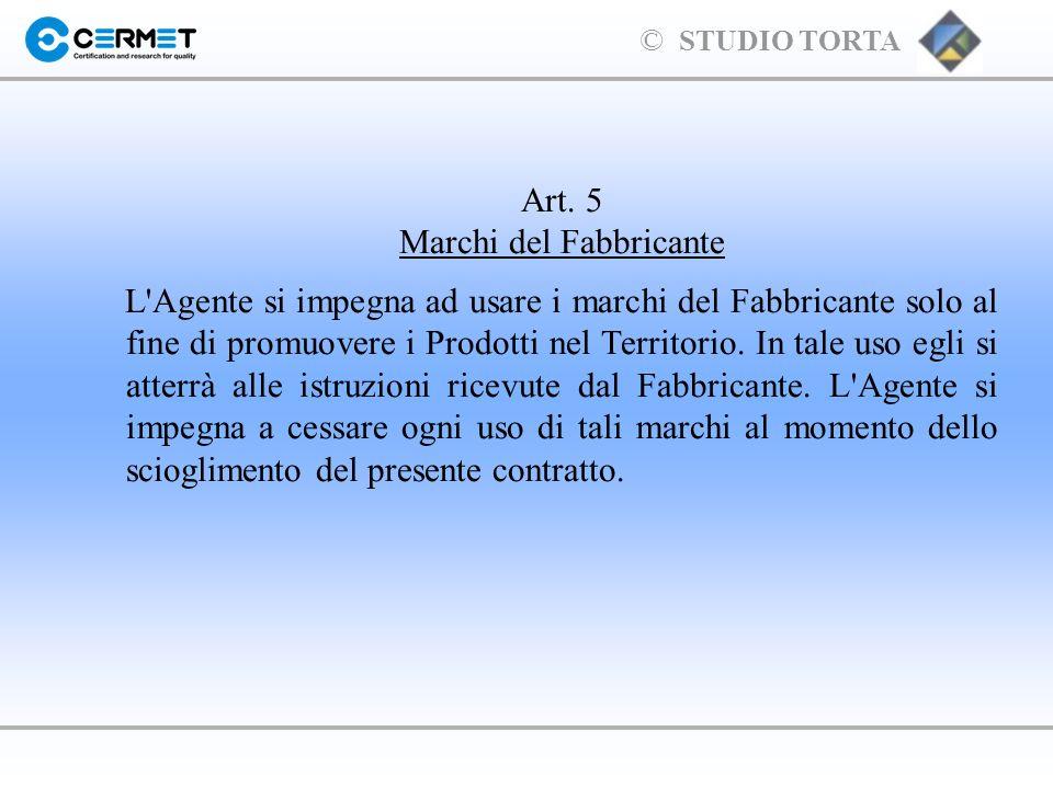 Art. 5 Marchi del Fabbricante