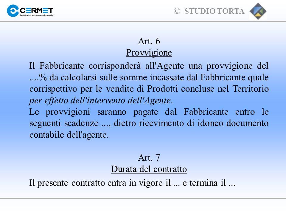 Art. 7 Durata del contratto