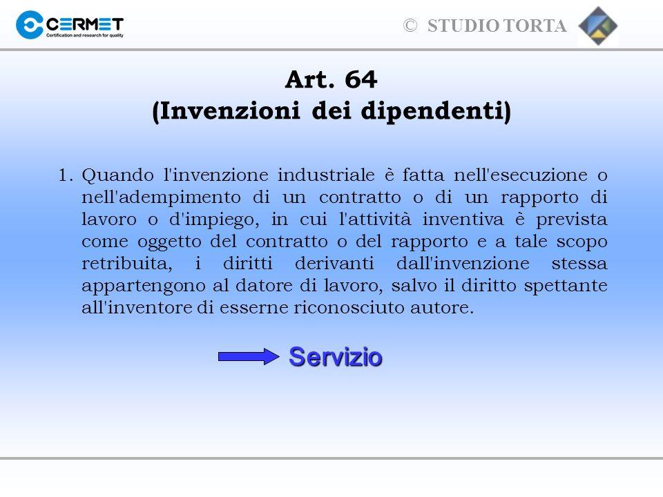 Art. 64 (Invenzioni dei dipendenti)