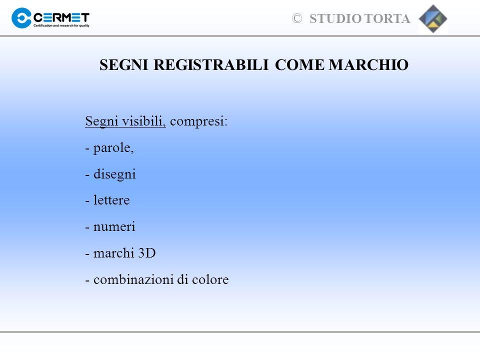 SEGNI REGISTRABILI COME MARCHIO