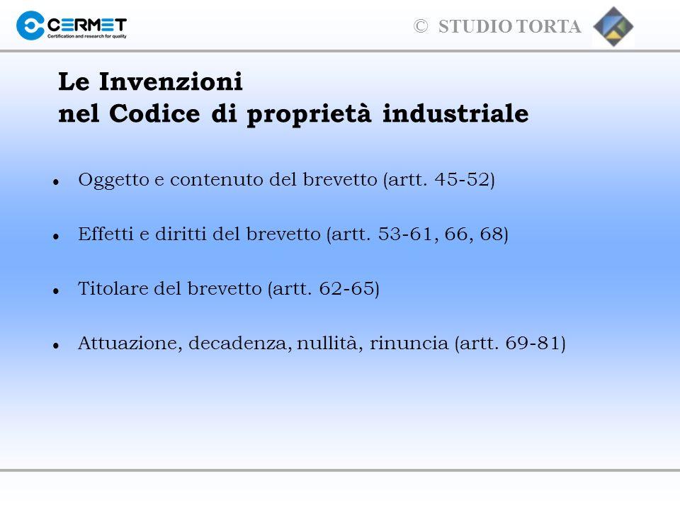 Le Invenzioni nel Codice di proprietà industriale