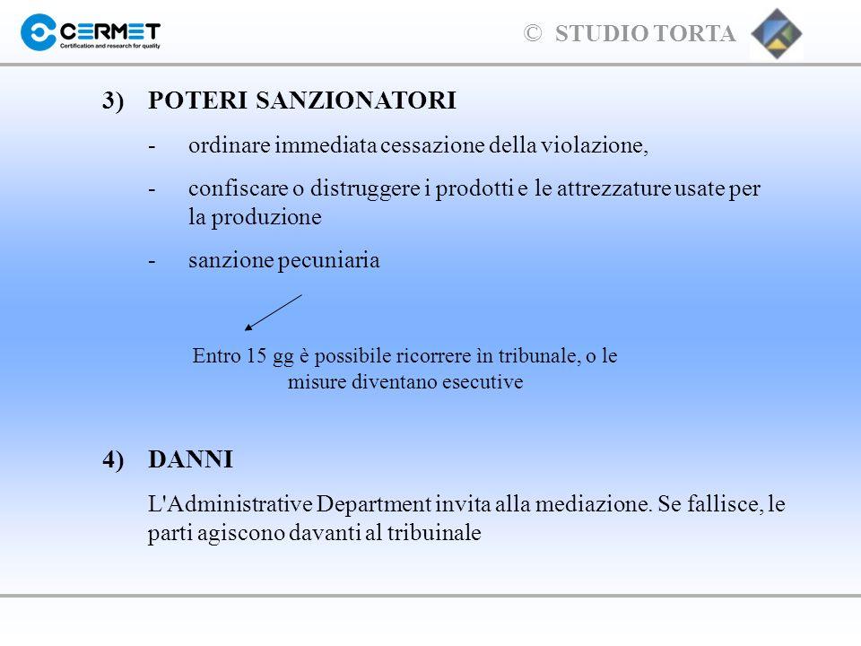 3) POTERI SANZIONATORI 4) DANNI