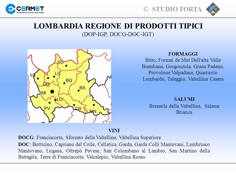 LOMBARDIA REGIONE DI PRODOTTI TIPICI