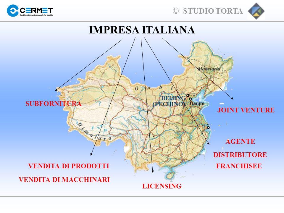IMPRESA ITALIANA SUBFORNITURA JOINT VENTURE AGENTE DISTRIBUTORE