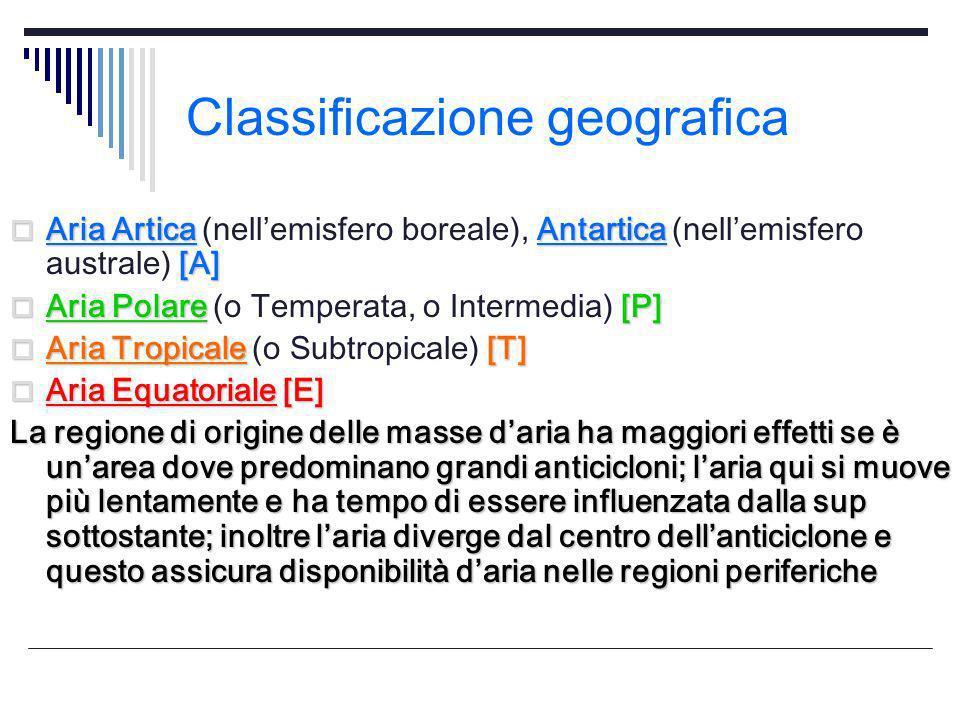 Classificazione geografica